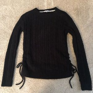 Super Soft Black Sweater with side ties